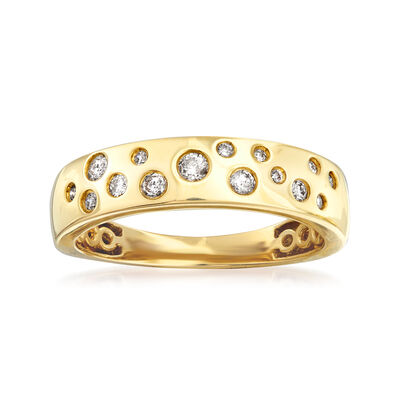 .25 ct. t.w. Diamond Bezel-Set Ring in 14kt Yellow Gold