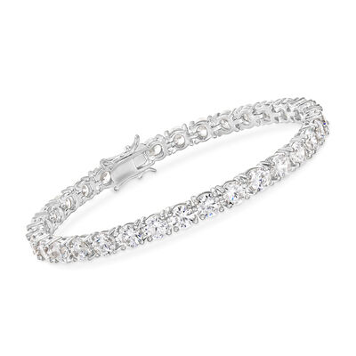 15.00 ct. t.w. CZ Tennis Bracelet in Sterling Silver
