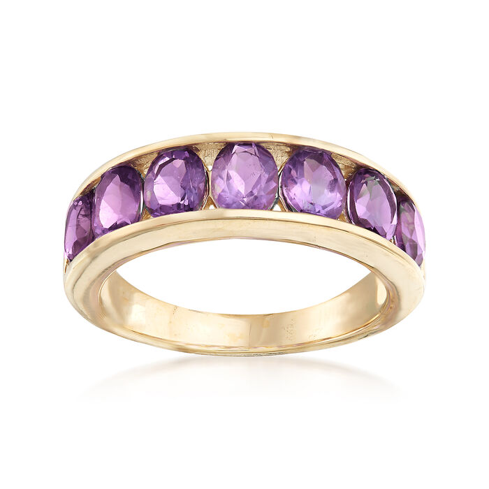 2.80 ct. t.w. Amethyst Eternity Band in 14kt Yellow Gold, , default