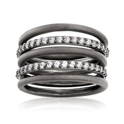 Sterling Silver Jewelry Set: Five Stackable Rings With 1.10 ct. t.w. CZs, , default