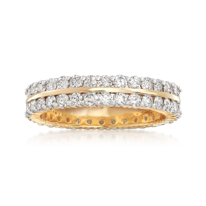 2.00 ct. t.w. Diamond Two-Row Eternity Band in 14kt Yellow Gold, , default