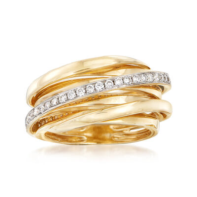 .25 ct. t.w. Diamond Stripe Ring in 14kt Yellow Gold, , default