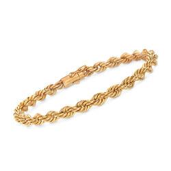 C. 1990 Vintage 14kt Yellow Gold Roped Bracelet, , default