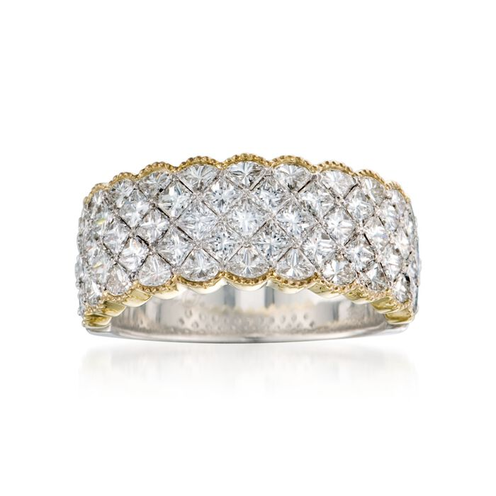 Simon G. 2.79 ct. t.w. Diamond Band Ring in 18kt Two-Tone Gold. Size 7, , default