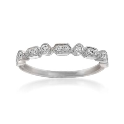 Henri Daussi .16 ct. t.w. Diamond Wedding Ring in 14kt White Gold
