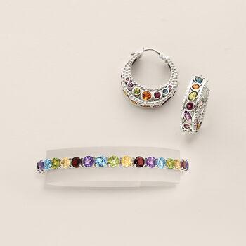 18.60 ct. t.w. Multi-Stone Tennis Bracelet in Sterling Silver, , default