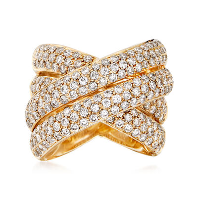 2.75 ct. t.w. Diamond Highway Ring in 14kt Yellow Gold, , default