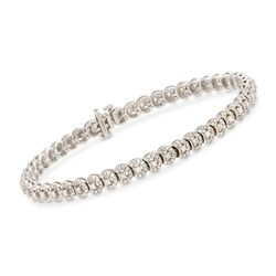 2.00 ct. t.w. Diamond Halo-Style Bracelet in Sterling Silver, , default