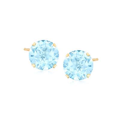 9.00 ct. t.w. Sky Blue Topaz Earrings in 14kt Yellow Gold
