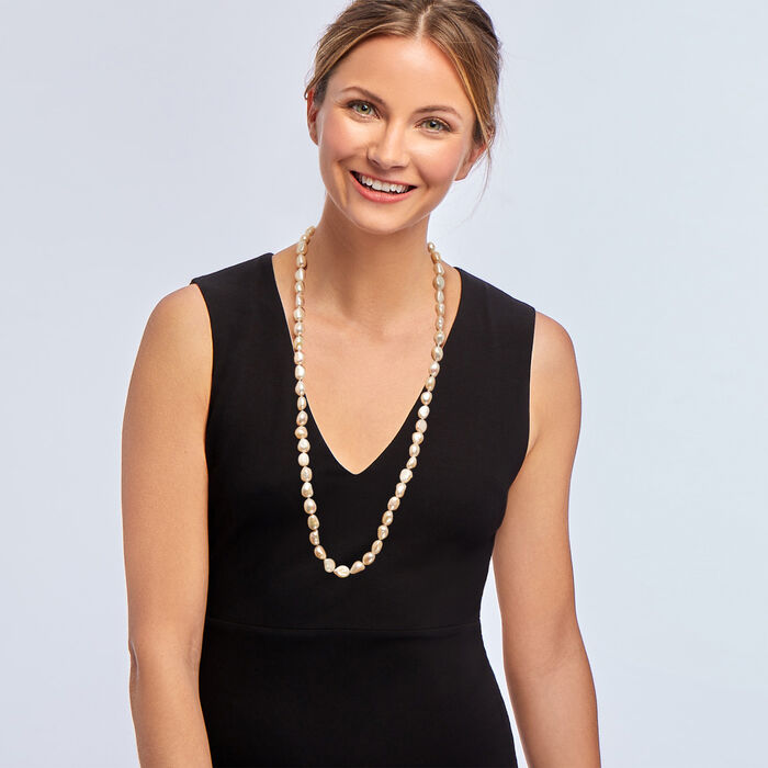 10-11mm Cultured Pearl Long Endless Necklace 32-inch