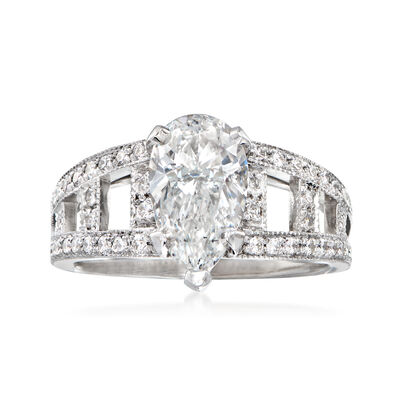 Majestic Collection 2.63 ct. t.w. Diamond Ring in 18kt White Gold, , default