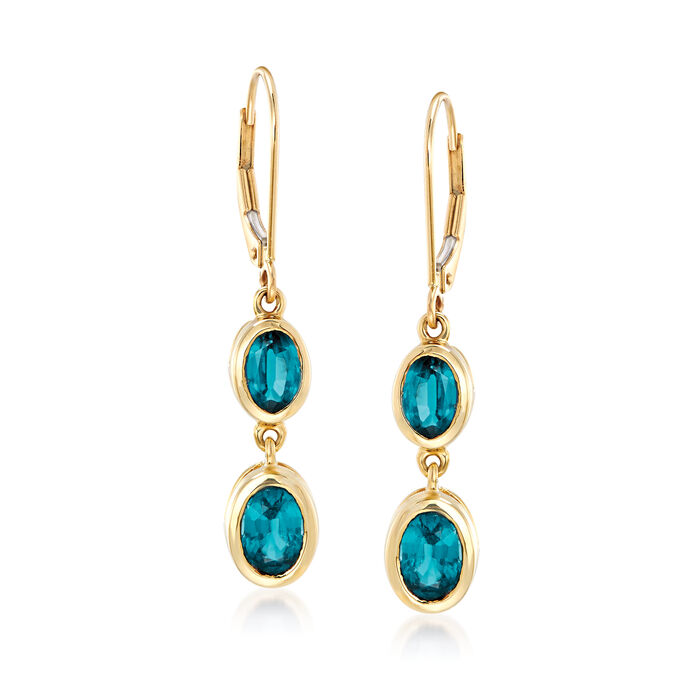 2.90 ct. t.w. Kyanite Drop Earrings in 14kt Yellow Gold, , default