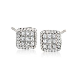 Gregg Ruth .80 ct. t.w. Diamond Stud Earrings in 18kt White Gold, , default