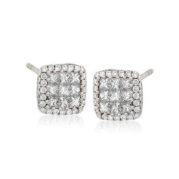 Gregg Ruth .80 ct. t.w. Diamond Stud Earrings in 18kt White Gold, , default