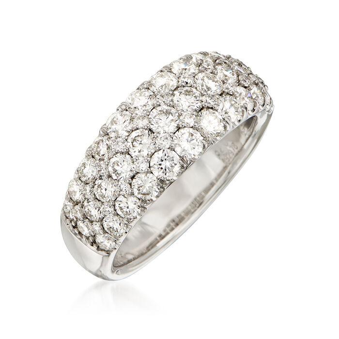 2.00 ct. t.w. Diamond Multi-Row Ring in 18kt White Gold
