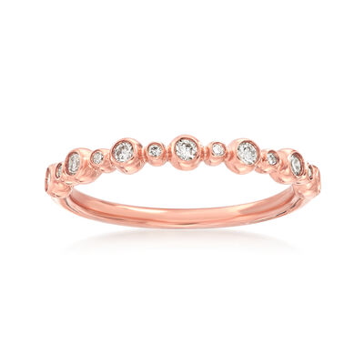 Henri Daussi .18 ct. t.w. Diamond Wedding Ring in 14kt Rose Gold, , default
