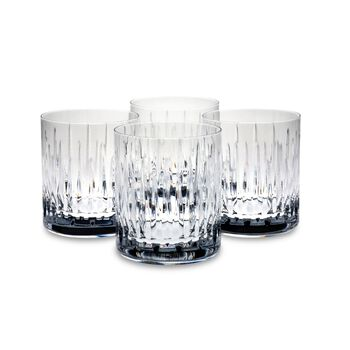 """Reed & Barton """"Soho"""" Set of Four Double Old Fashioned Crystal Glass Tumblers, , default"""