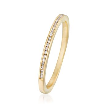 Henri Daussi .10 ct. t.w. Diamond Wedding Ring in 18kt Yellow Gold