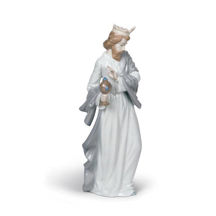 "Nao ""Nativity - King Gaspar with Urn"" Porcelain Figurine"