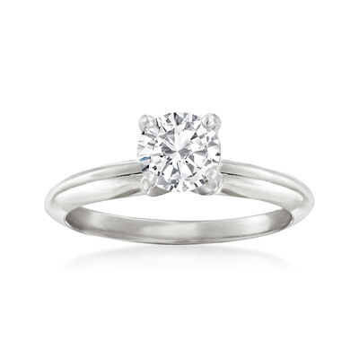 .76 Carat Certified Diamond Solitaire Engagement Ring in 14kt White Gold