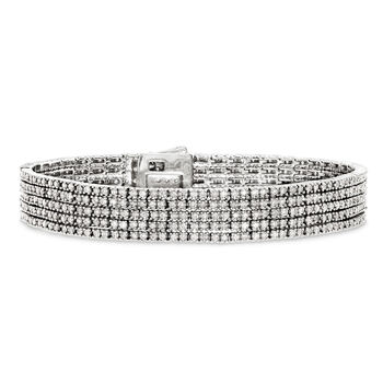 5.00 ct. t.w. Diamond Five-Strand Bracelet in 14kt White Gold