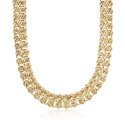 "14kt Yellow Gold Infinity Link Necklace. 18"", , default"