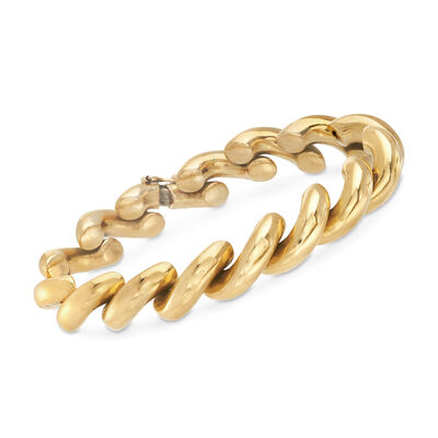 C. 1990 Vintage 14kt Yellow Gold San Marco Bracelet, , default
