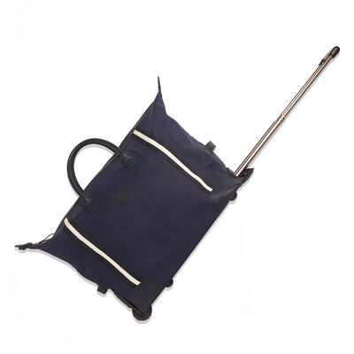"""Brouk & Co. """"Kennedy"""" Navy Canvas Rolling Duffel Bag"""