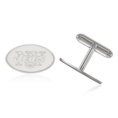 Sterling Silver NFL New York Jets Cuff Links, , default