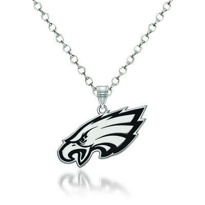 """Sterling Silver NFL Philadelphia Eagles Enamel Pendant Necklace. 18"""", , default"""