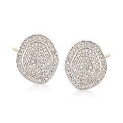 .25 ct. t.w. Pave Diamond Earrings in 14kt White Gold, , default