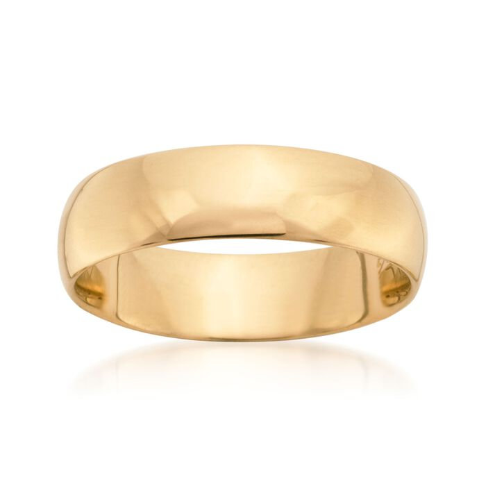 Men's 6mm 14kt Yellow Gold Wedding Ring, , default