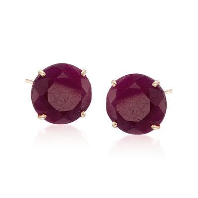 c9c119be0 t.w. Ruby Stud Earrings in 14kt Yellow Gold, , default