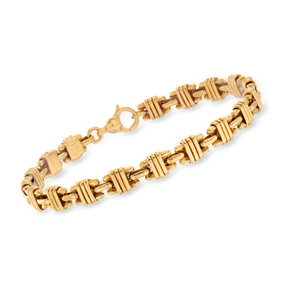 C. 1990 Vintage Tiffany Jewelry Link Bracelet in 18kt Yellow Gold, , default