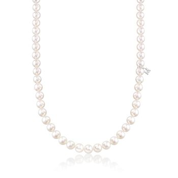 """Mikimoto 6.5-7mm 'A' Akoya Pearl Necklace With 18kt White Gold. 16"""", , default"""