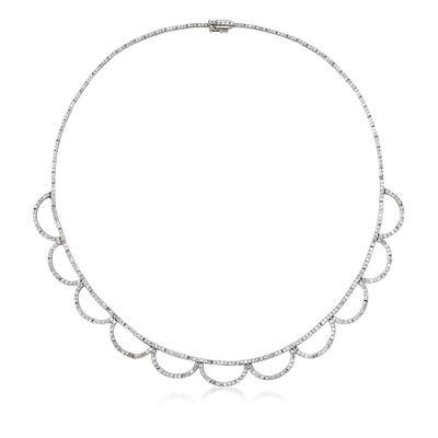 C. 1990 Vintage 5.50 ct. t.w. Diamond Necklace in 18kt White Gold, , default