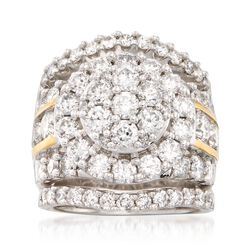 5.00 ct. t.w. Diamond Jewelry Set: Three Rings in 14kt Two-Tone Gold, , default