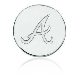 14kt White Gold MLB Atlanta Braves Lapel Pin, , default