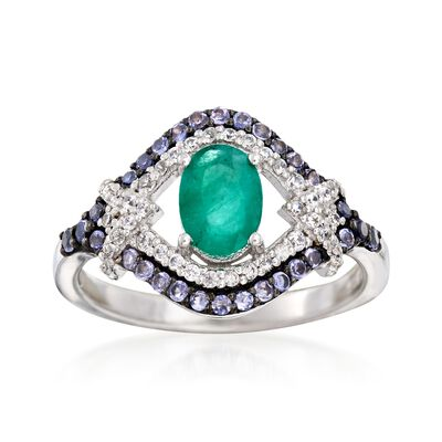 1.20 ct. t.w. Multi-Stone Ring in Sterling Silver, , default
