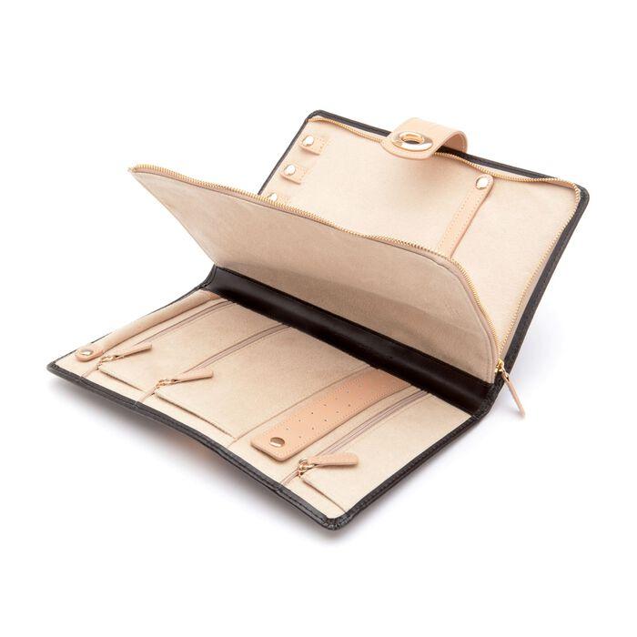 "Wolf Designs ""Chloe"" Leather Jewelry Folio Case"