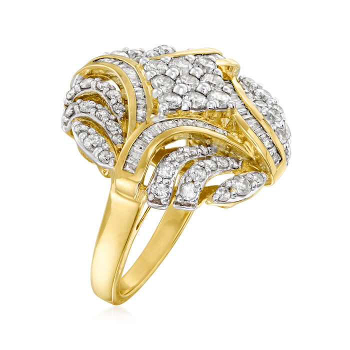2.00 ct. t.w. Diamond Circle Ring in 18kt Gold Over Sterling