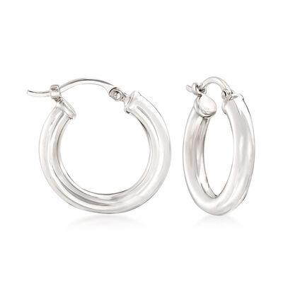 Sterling Silver 3mm Hoop Earrings, , default