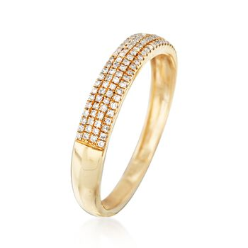 .15 ct. t.w. Multi-Row Diamond Ring in 14kt Yellow Gold, , default
