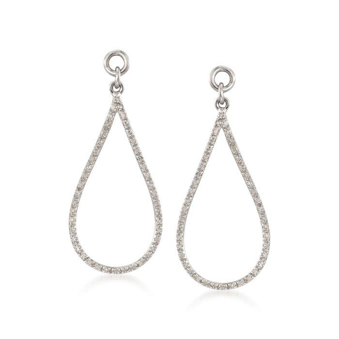 .26 ct. t.w. Diamond Open Teardrop Earring Jackets in Sterling Silver