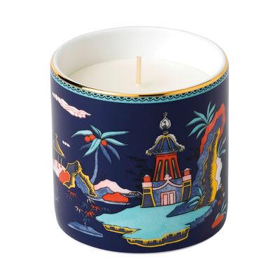 """Wedgwood """"Wonderlust"""" Blue Pagoda Candle"""