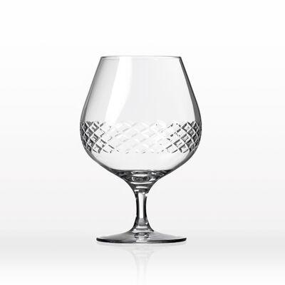 "Rolf Glass ""Diamond"" Set of 4 Brandy Snifter Glasses"