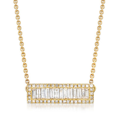 .41 ct. t.w. Diamond Bar Necklace in 14kt Yellow Gold, , default