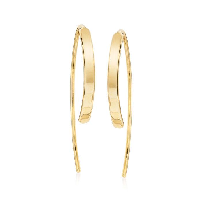 "14kt Yellow Gold Threader Earrings. 5/8"""