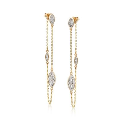 .50 ct. t.w. Diamond Front-Back Drop Earrings in 14kt Yellow Gold