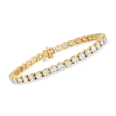 12.00 ct. t.w. Diamond Tennis Bracelet in 14kt Yellow Gold